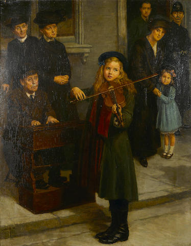 G. Welby The young violinist 51 x 39 3/4in