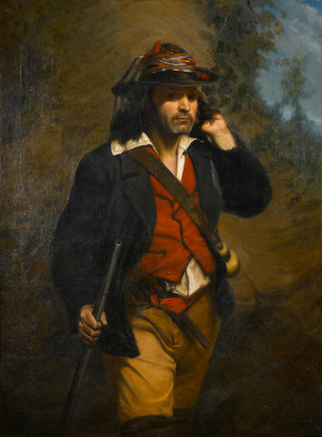 Charles Campes (French) An Italian hunter 51 x 38in