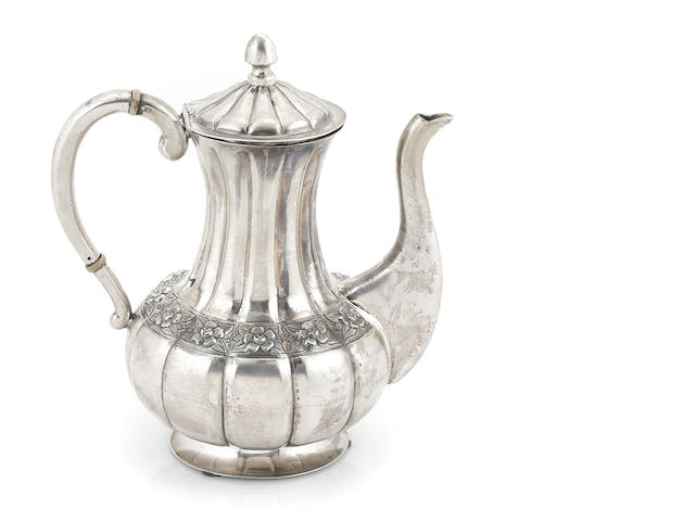 A Mexican sterling silver coffee pot, Sanborns