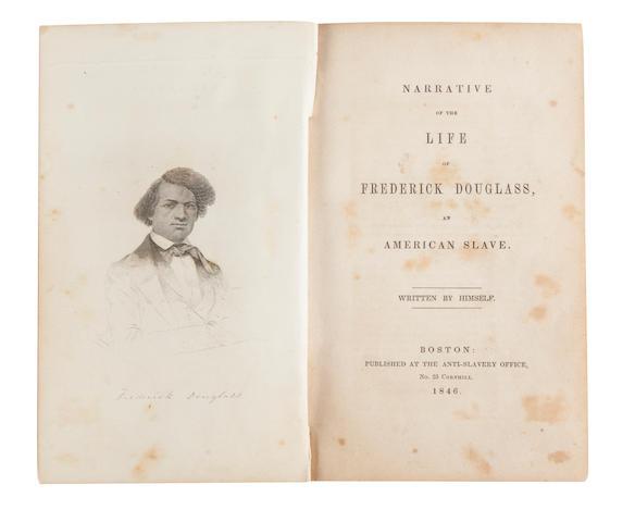 DOUGLASS, FREDERICK. 1817-1895. Narrative of the Life of.... Boston: The Anti-Slavery Office, 1846.<BR />