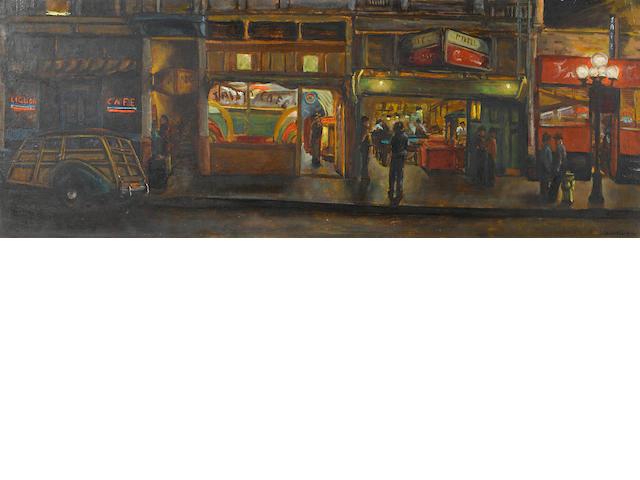Joseph Chabot (American) Los Angeles street scene, 1949