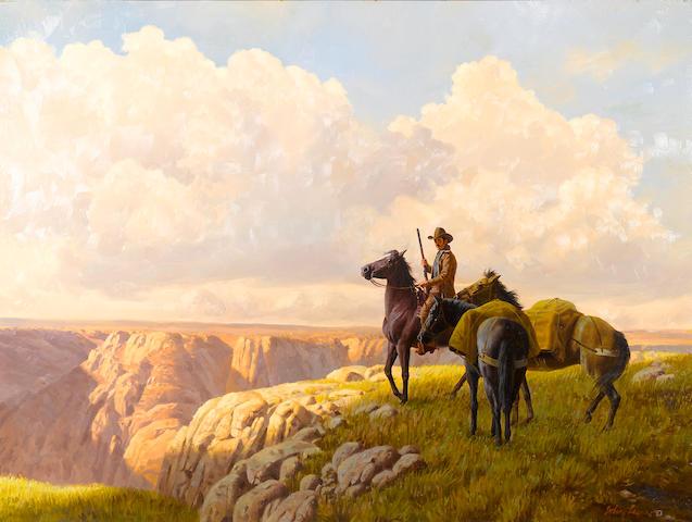 John Leone (American, 1929-2011) The Overlook 30 x 40in