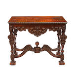 A Régence style carved mixed wood side table