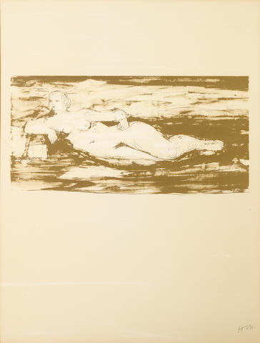 Henry Moore O.M., C.H. (British, 1898-1986); Nudes Cover (C.396) lithograph;