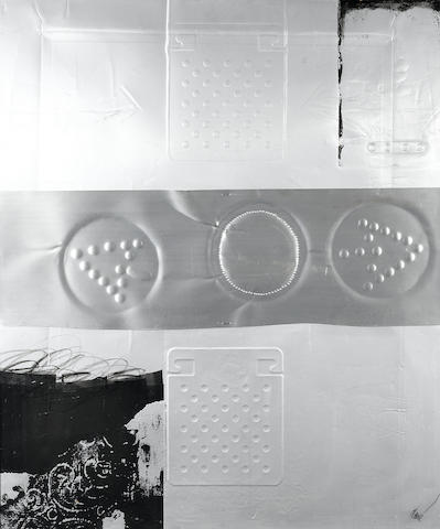 Antoni  Clavé (1913-2005); Untitled embossed aluminum and collage (3);
