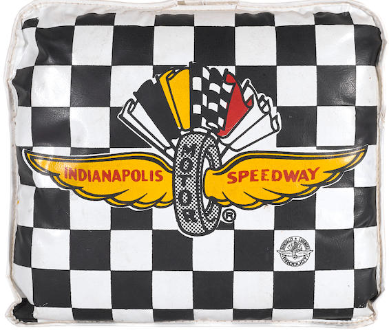 A 1950s Indianapolis Speedway seat cushion,