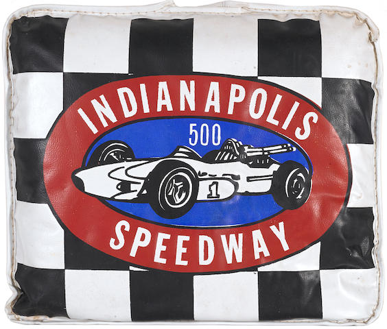 A 1964 Indianapolis Speedway seat cushion