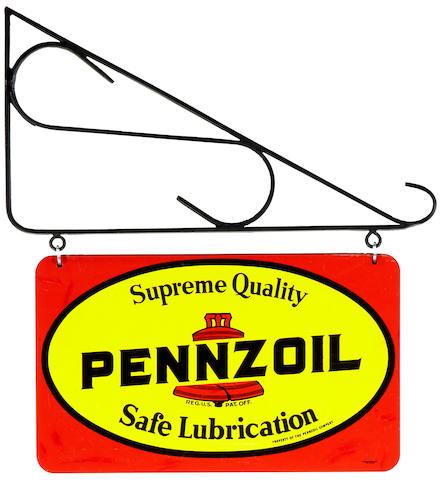 A Pennzoil service station sign, c. 1960s