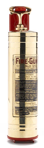 A brass 'Fire-Gun' fire extinguisher, c. 1930s,