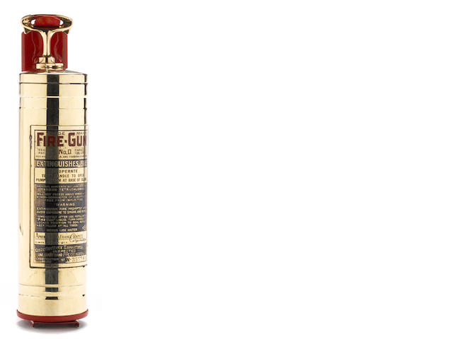 A brass 'Fire-Gun' fire extinguisher, c. 1930s