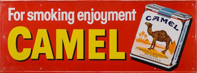 A vintage Camel cigarettes sign, c. 1950s,