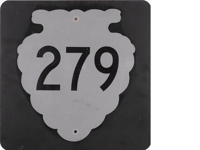 A vintage Montana highway 279 road sign