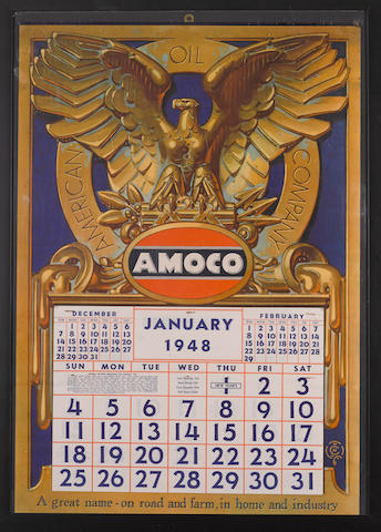 An American Oil Company, Amoco service station calendar,