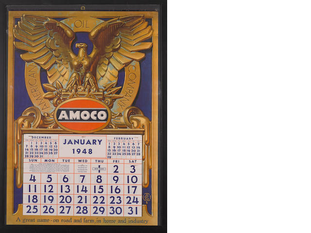 American oil company Amco service station calendar