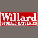A Willard storage batteries garage sign