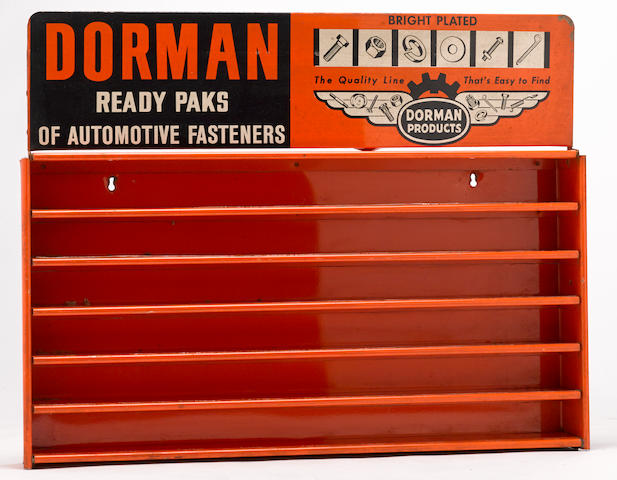 aluminum Dorman Automotive fasteners cabinet, c. 1960s