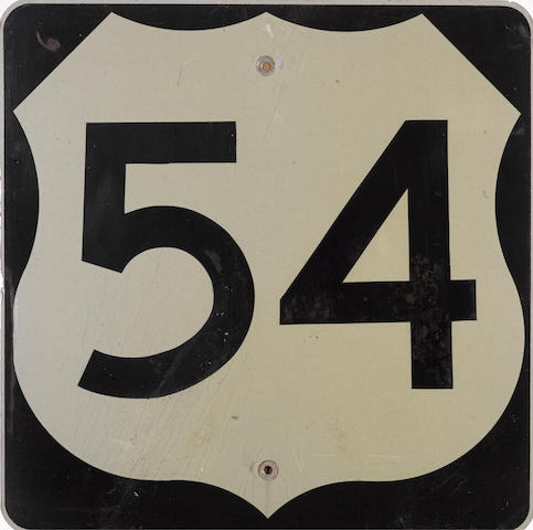 A vintage US Virginia Highway 54 sign