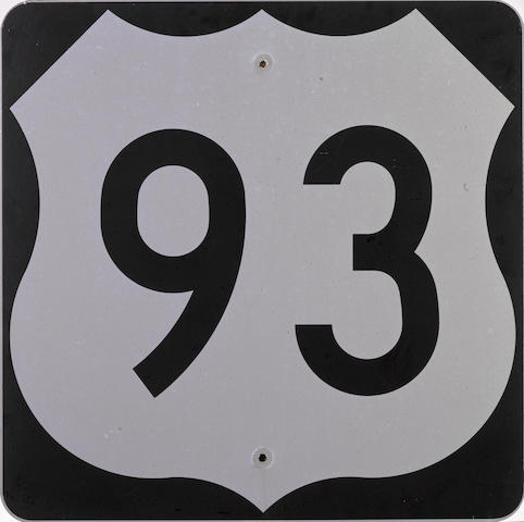 A US Las Vegas Highway 93 road sign,