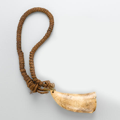 "Chief's necklace with hanging ""Tabua"""