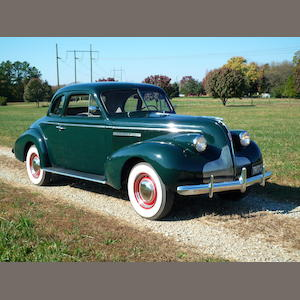 1939 Buick Special (46S) Sport Coupe  Chassis no. 23491052 Engine no. 48699820