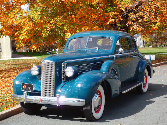 Restored to award-winning specifications by Wayne Collier,1937 LaSalle Model 5027 Rumble Seat Sport Coupe with Dual Sidemounts  Chassis no. 2239275