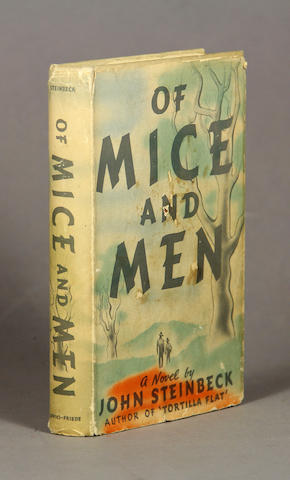 STEINBECK, JOHN. 1902-1968. Of Mice and Men. New York: Covici Friede, [1937.]