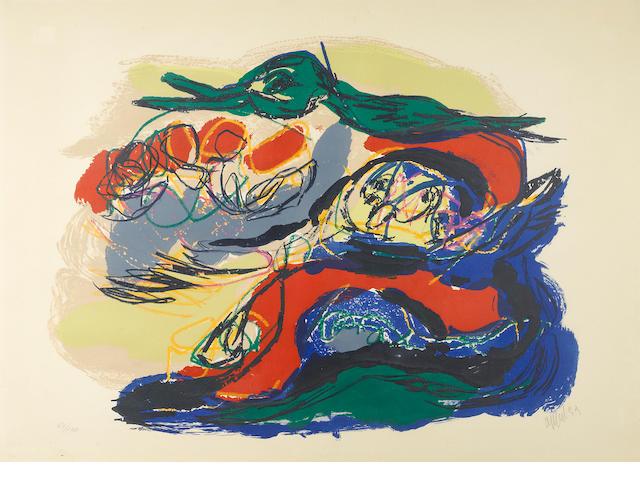 Karel Appel (Dutch, 1921-2006); Paysage mystérieux;