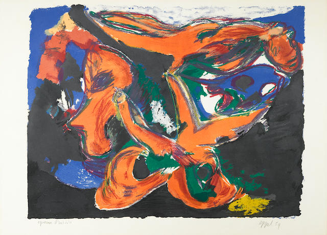 Karel Appel (Dutch, 1921-2006); Faune nocturne;