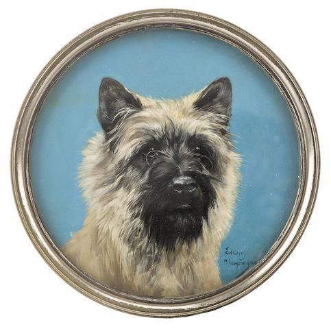 Edwin Megargee (American, 1883-1958) Ch. Tommy Tucker of O'Tapscot diameter 9in (22.8cm)