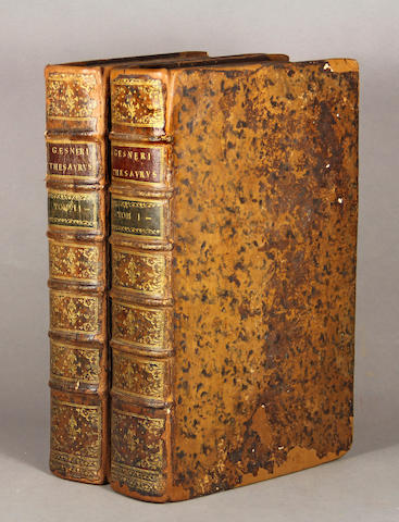 GESNER, JOHANN MATTHIAS. 1691-1761. Novus Linguae et Eruditionis Romanae Thesaurus.... Leipzig: Casp. Fritsch & Bernh. Chr. Breitkopf, 1749.