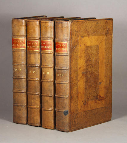 BAYLE, PIERRE, 1647-1706. An Historical and Critical Dictionary. London: for C. Harper et al, 1710.