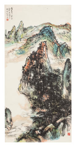 Wang Kangle (1907 - 2006) Mountain landscape, 1978
