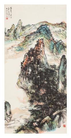 Wang Kangle (1907 - 2006) Mountain landscape, 1978
