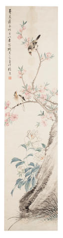 Zhang Xiong (1803 - 1886) Birds on Peach Branch