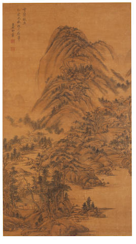 Attributed to Wang Yuanqi (1642 - 1715) Autumn Cloudscape after Huang Gongwang
