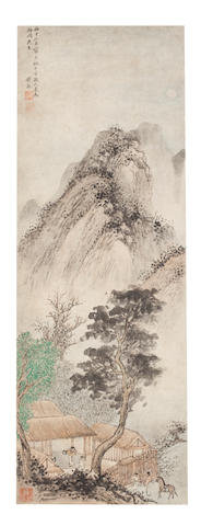 Attributed to Qian Gu (1508 - 1578) Visiting a Friend by Moonlight, 1576