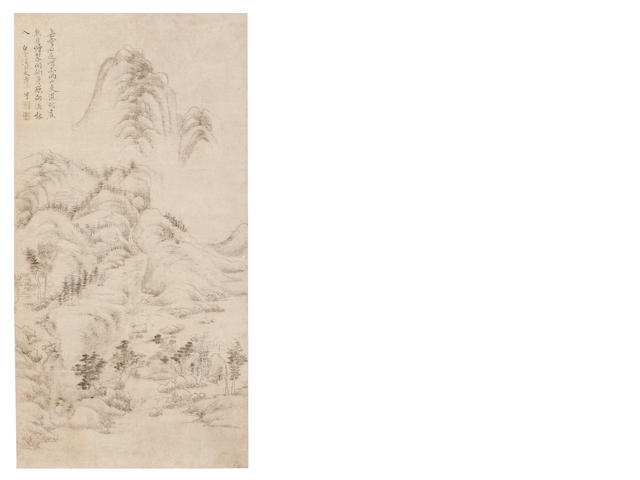 Yun Shouping (1633 - 1690) Mountain Scenery