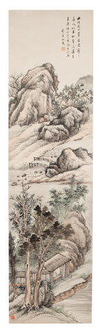 Gu Yun (1835 - 1896) Spring landscape