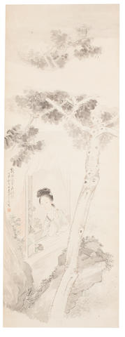Sha Fu (1831 - 1906) Woman at Window, 1877