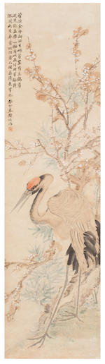 Lu Hui (1851 - 1920) Five Scrolls of Birds and Flowers