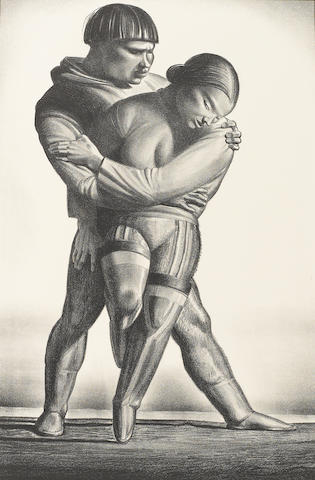 Rockwell Kent, Courtship, lithograph