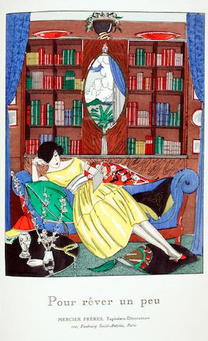 BRUNELLESCHI, UMBERTO; GEORGE BARBIER, et al. La Guirlande. Album mensuel d'Art et de Littérature. [Paris]: 1919-1920.
