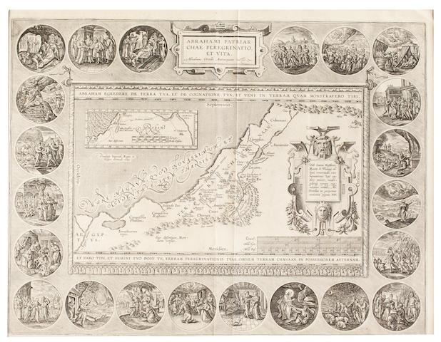 ORTELIUS, ABRAHAM. 1527-1598. Abrahami Patriarchae Peregrinatio et Vita. Antwerp: [Vrients, 1603].<BR />