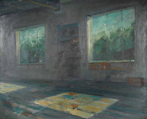 Clement McAleer, School Room, oil on canvas