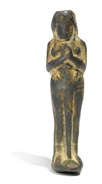 Bronze female adorant - mirror handle