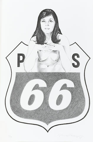 Mel Ramos (American, born 1935); Miss Sixty Sixer;