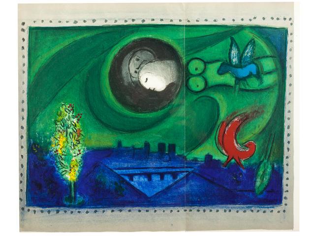 CHAGALL, MARC. 1887-1985. Derrière le miroir: Paris. Paris: Maeght, 1954.