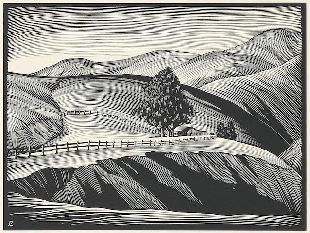 Paul Landacre (American, 1893-1963); California Hills; (11)
