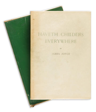 JOYCE, JAMES. 1882-1941. Haveth Childers Everywhere. Paris and New York: Henry Babou and Jack Kahane; The Fountain Press, 1930.