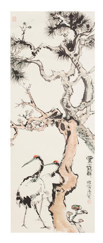 Cheng Shifa (1921-2007)   Crane and Pine
